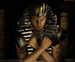 Mystic Pharaoh ancient Egypt by Luna Fantasma