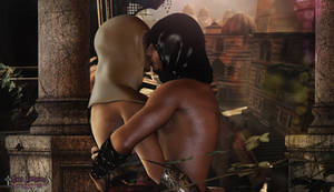 Malik-Altair kiss Assassin's Creed_Luna Fantasma