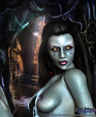 Wraith Queen naked by Luna Fantasma by Luna-Fantasma