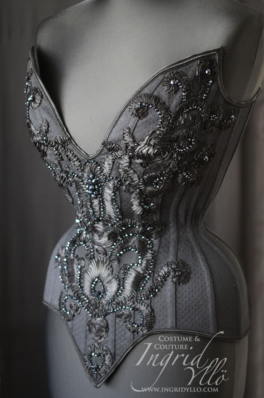 All black corset by MissMaefly