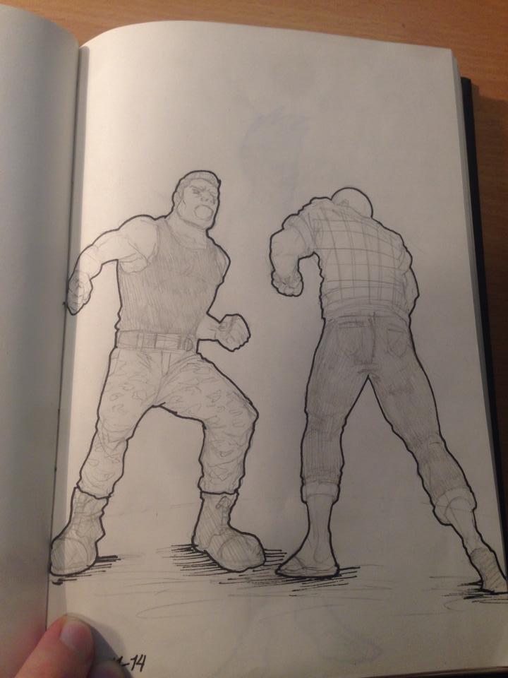 fight sketch by Ythran
