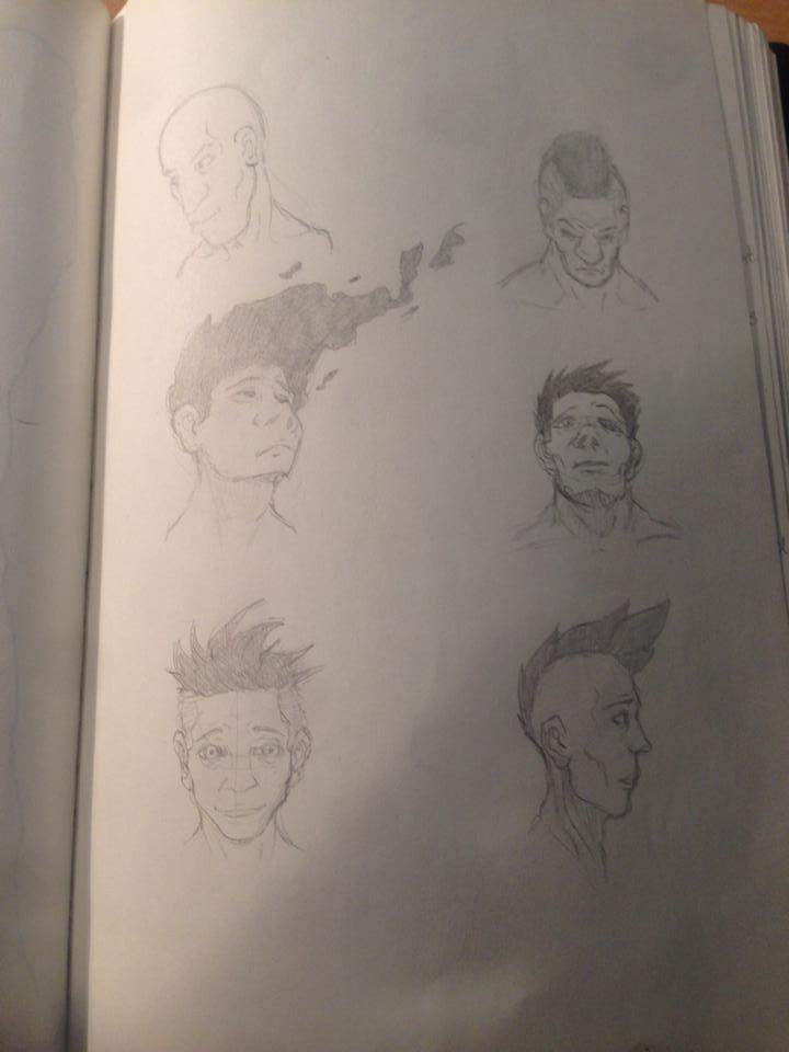 head sketches by Ythran