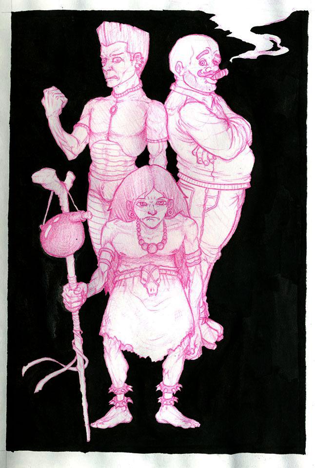 Pink Trio by Ythran