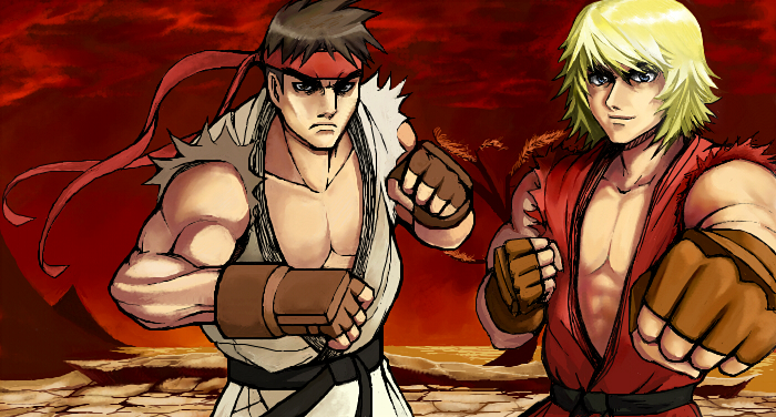 iScrib - Ryu and Ken by Metalbolic
