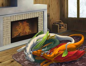 Cozy dragons