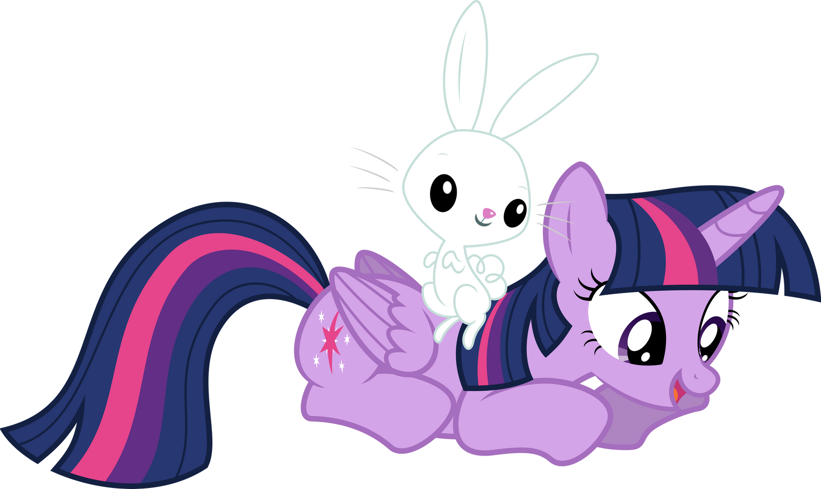 Purple Pony and some lagomorph by mehoep