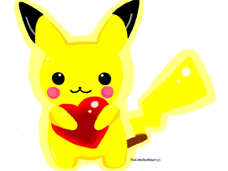 Pika Heart by TheLittleRedHeart