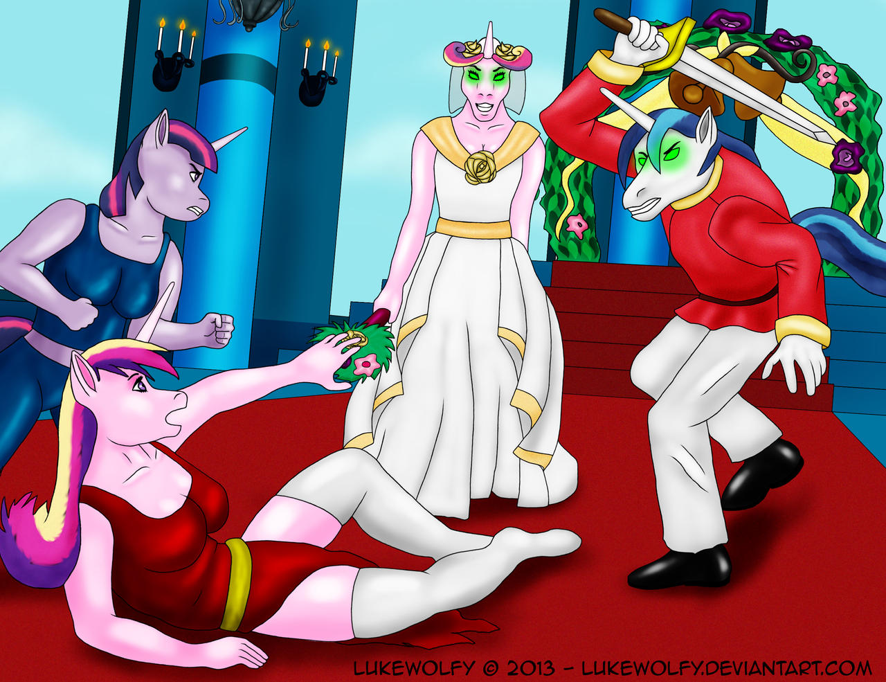MLP - The false wedding by LukeWolfy