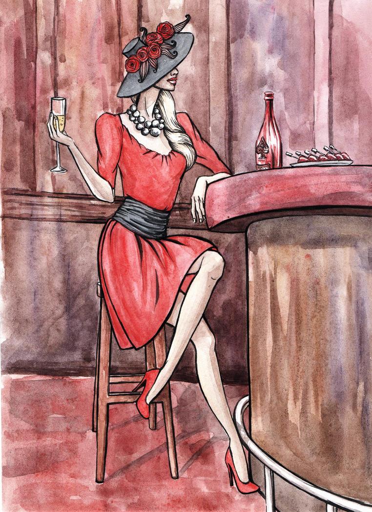 Retro Lady by DaryaLednikova