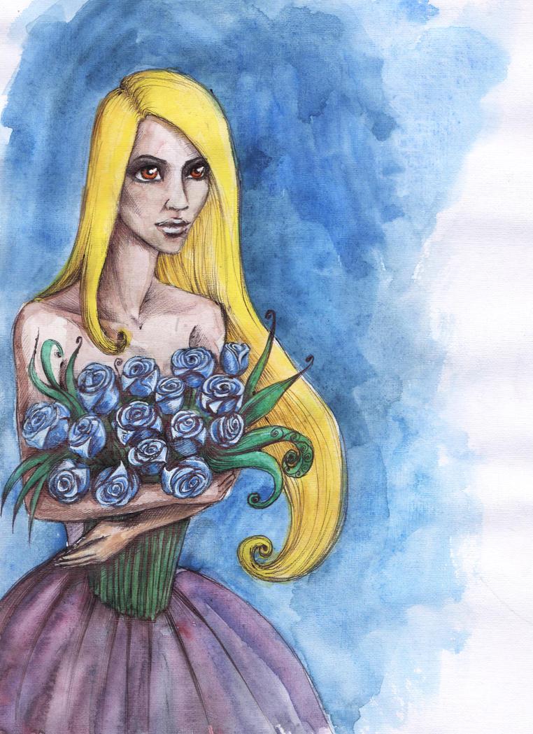 Blue roses by DaryaLednikova