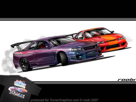 Skyline vs. Silvia drift toon