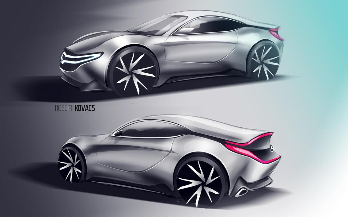 Mercedes Sketch #02 by roobi