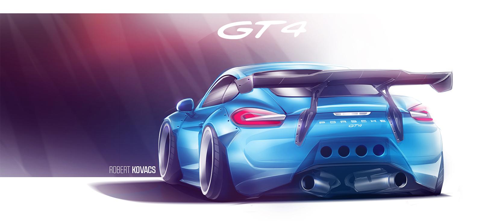 Porsche Cayman GT4 by roobi