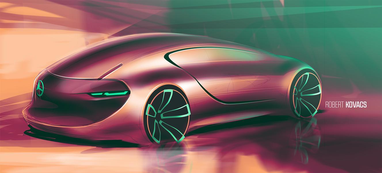 Mercedes Sketch #04 by roobi