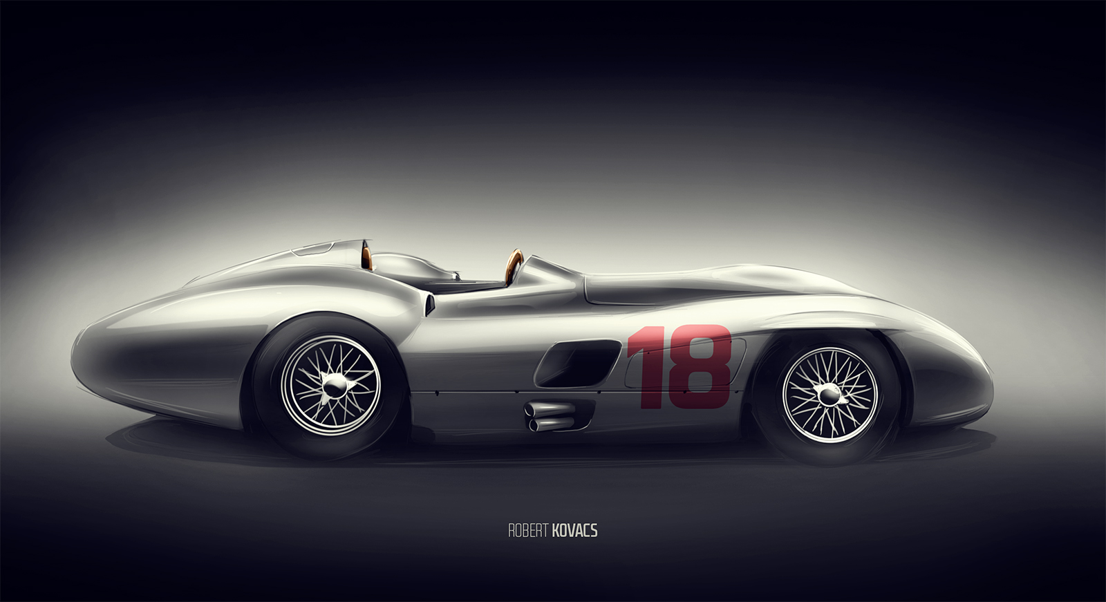 Mercedes benz 300 slr by roobi on deviantart for Mercedes benz 300 slr