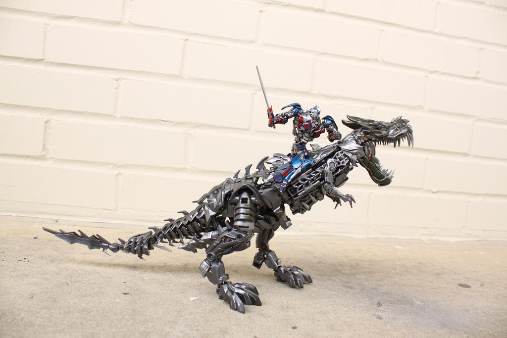 mini optimus prime aoe   grimlock custom by npiece on