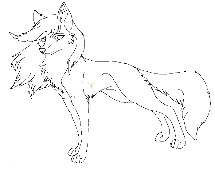Lineart Wolf New 1 By Raven Morticia On DeviantArt