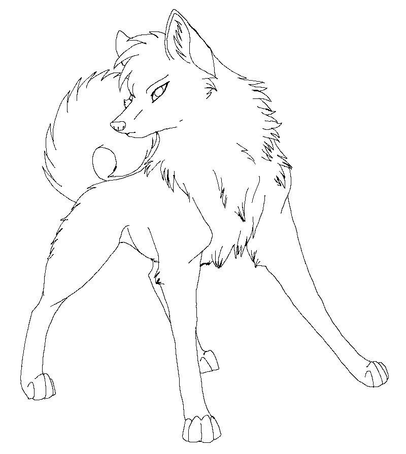 Line Wolf 8 By Raven morticia On DeviantArt