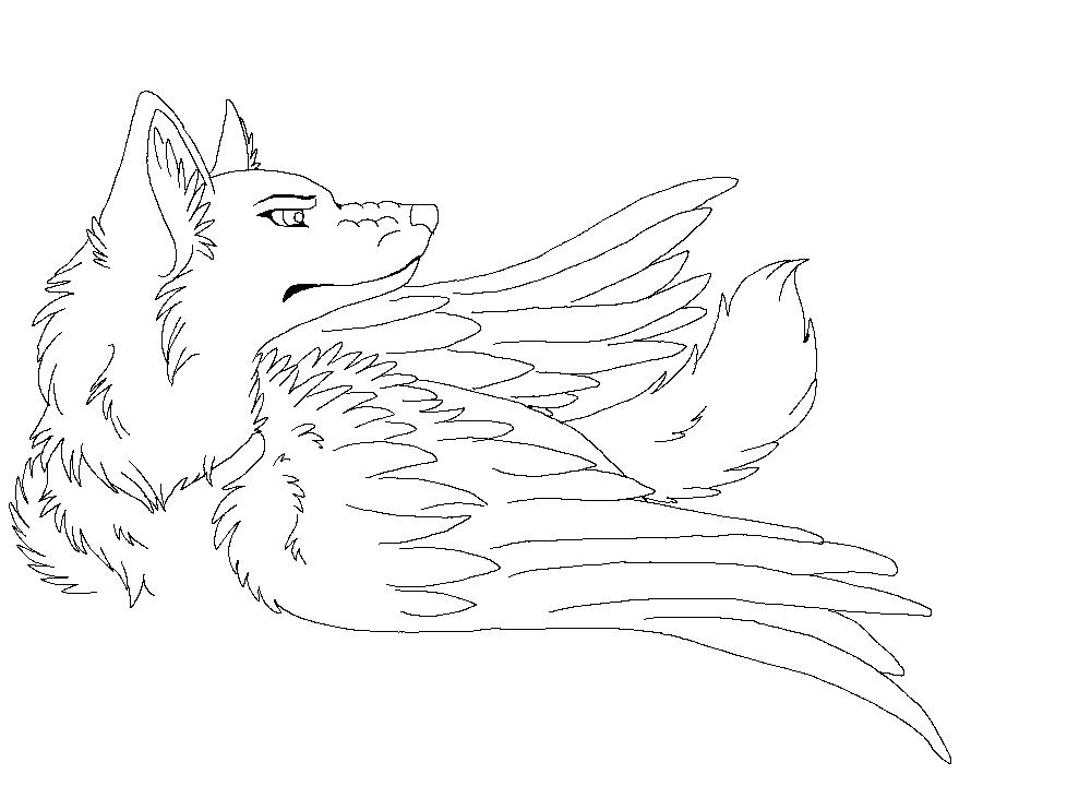Fallen Angel Wolf By Raven morticia On DeviantArt
