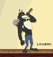 Pixel Art Wolf by Loweak