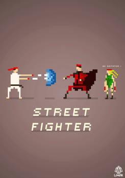 Pixel Art Street Fighter