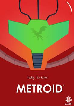 Metroid Minimalist Poster