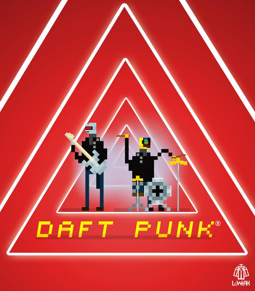 Pixel Art Daft Punk by Loweak