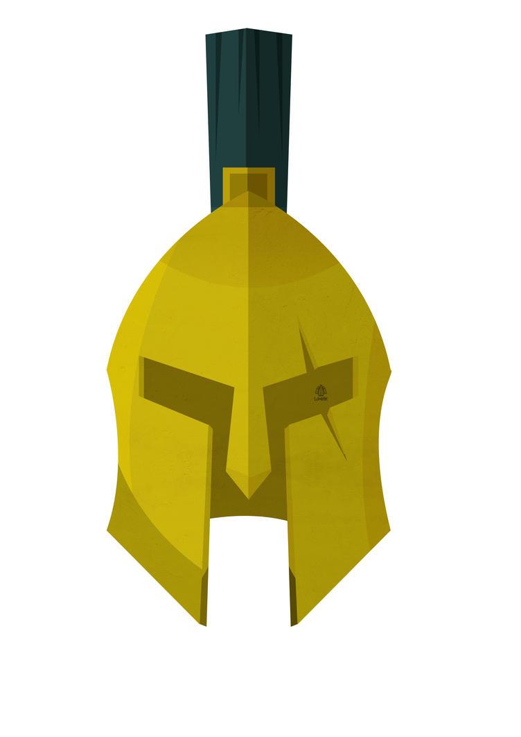 300 Leonidas Helmet minimalist Poster by Loweak