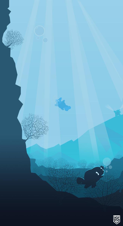 Pokemon Water Evolution Vector minimalist Poster by Loweak