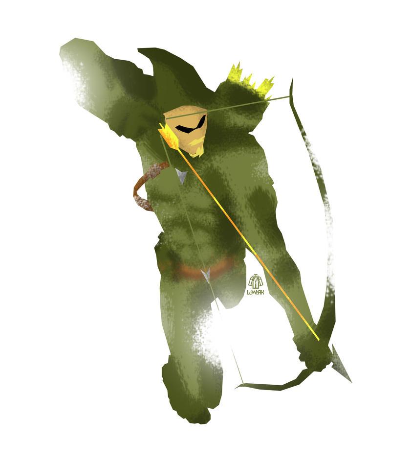 Green Arrow Minimalist Splash Poster by Loweak