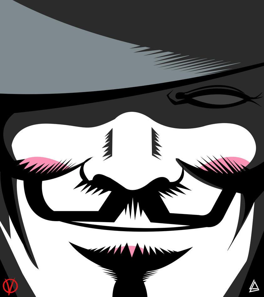 V. for Vendetta minimalist Poster by Loweak