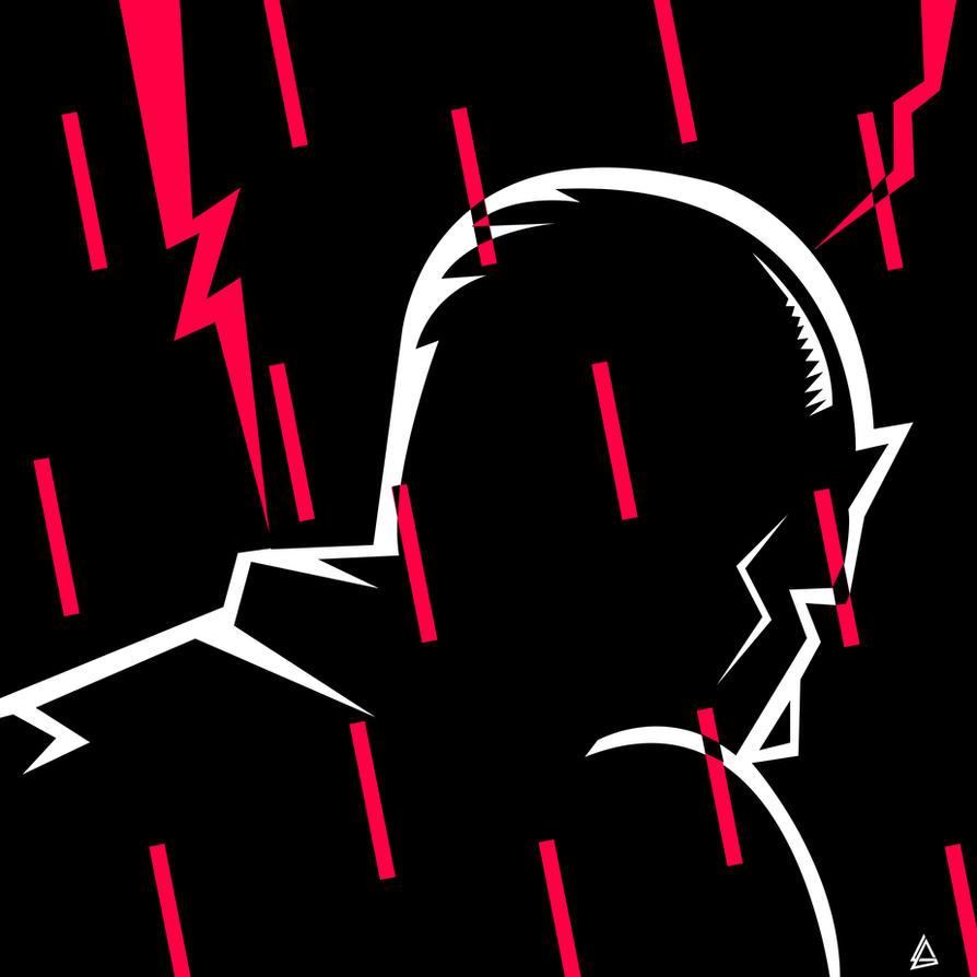 Daredevil Minimalist Black And White Poster ! by Loweak