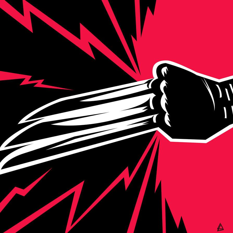 Wolverine Minimalist Black And White Poster ! by Loweak