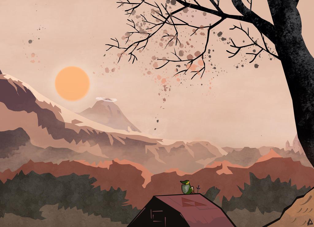 Landscape The legend of Zelda by Loweak