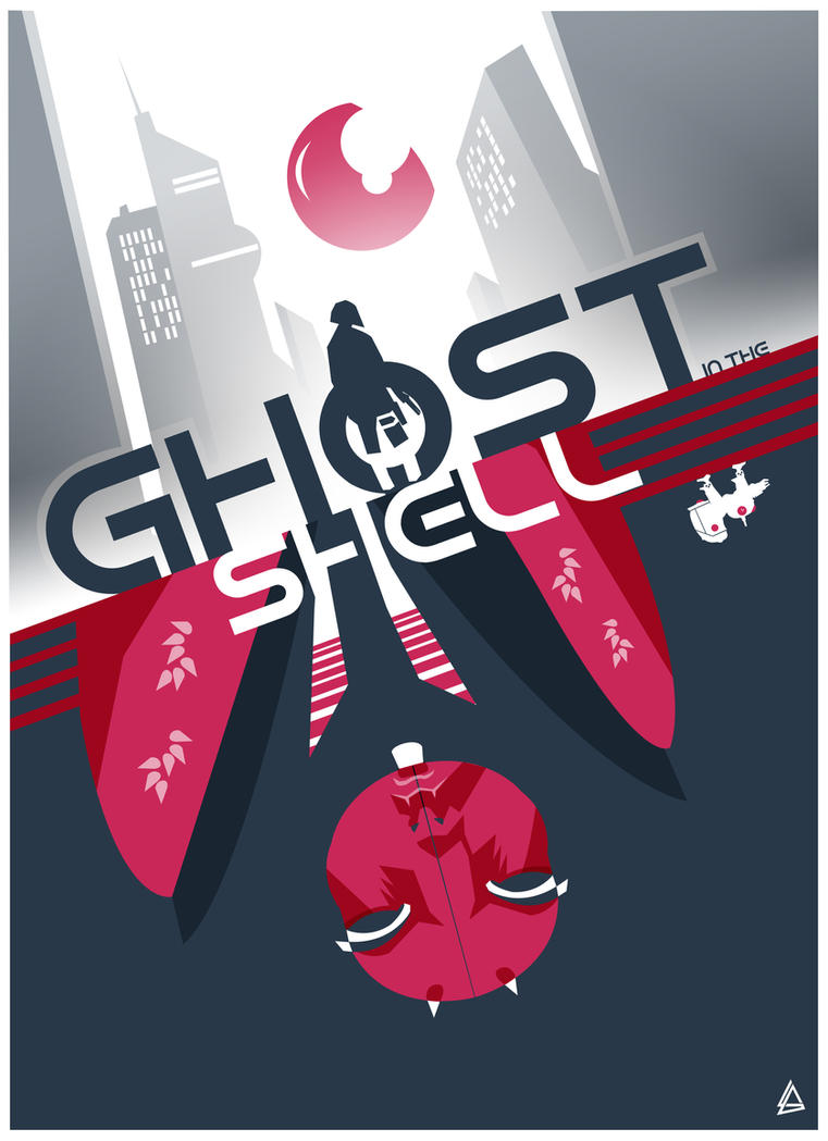 Ghost in the shell minimalist poster by Loweak