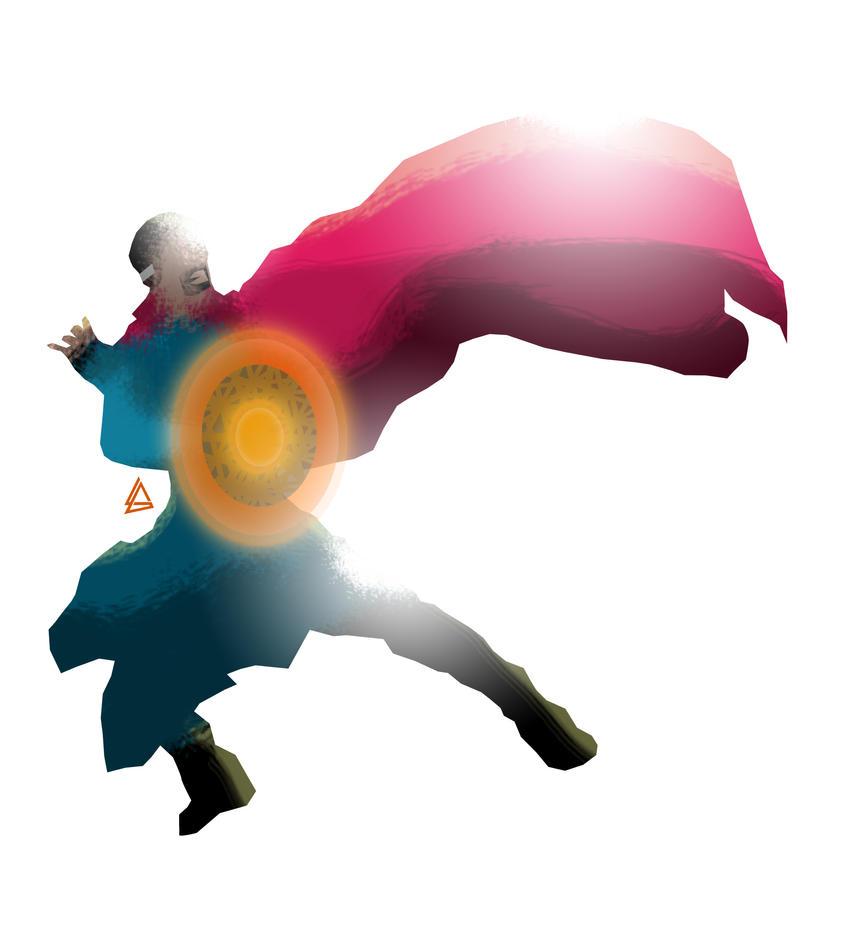 Doctor Strange minimalist Splash Poster by Loweak