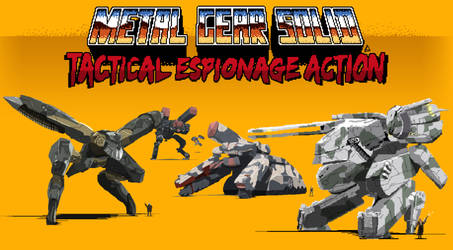 Pixel Art Metal Gear Solid by Loweak