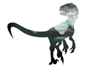 Velociraptor Minimalist Splash by Loweak