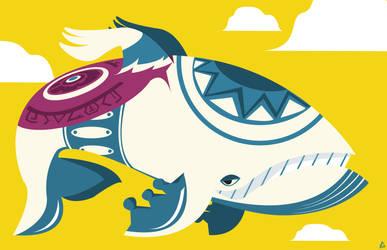 A whale's dream by Loweak