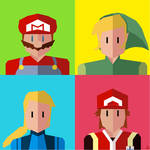 Nintendo Minimalist 2 sides poster by Loweak