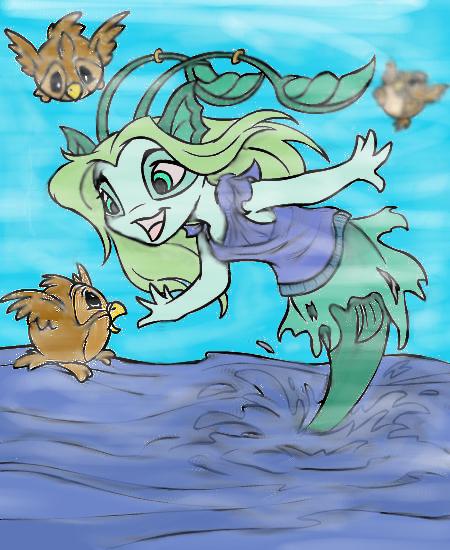 Neopet Mermaid By Brokenwings101 On DeviantArt