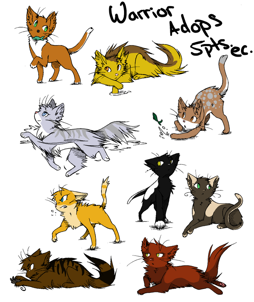 how to draw anime cats warriors