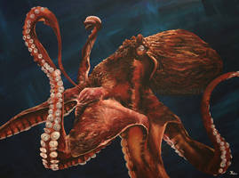 Giant Pacific Octopus - Commission by odontocete