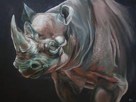 Utenzi - Black rhino by odontocete