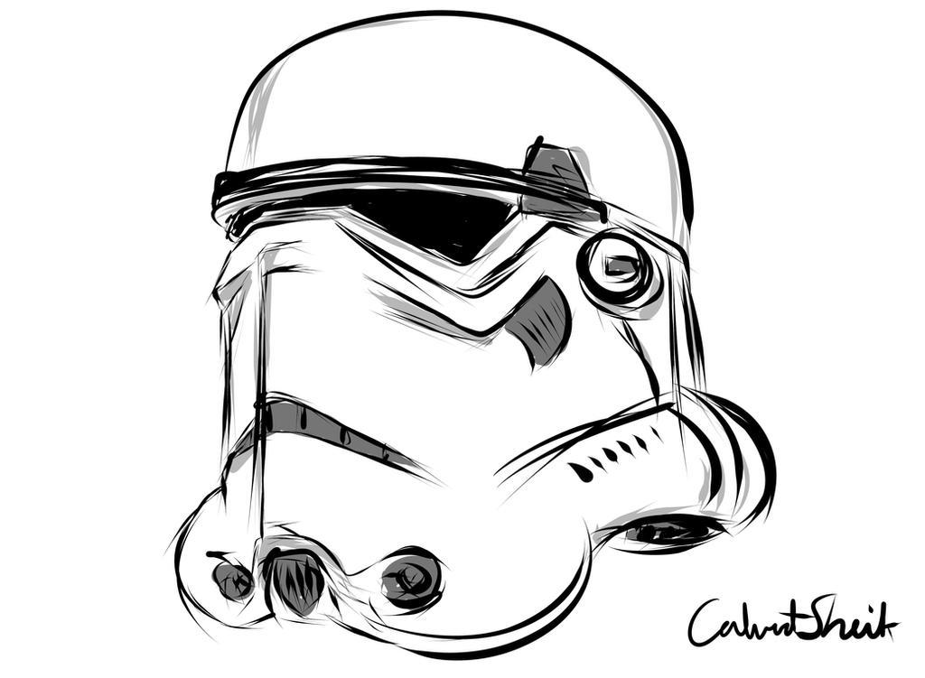 Stormtrooper Sketch by CalvertSheik