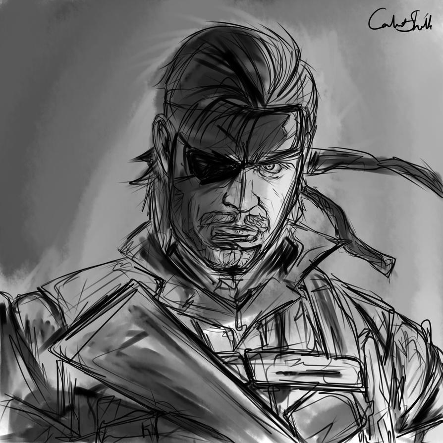Big Boss Sketch  (Metal Gear) by CalvertSheik