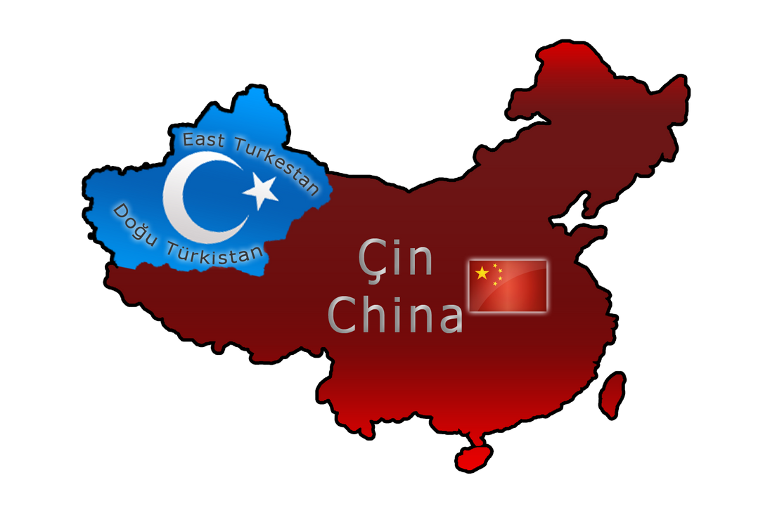 Flag map of East Turkestan by llmatako