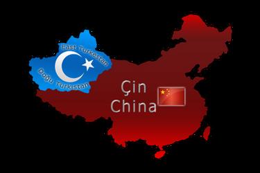 Flag map of East Turkestan by llmatako