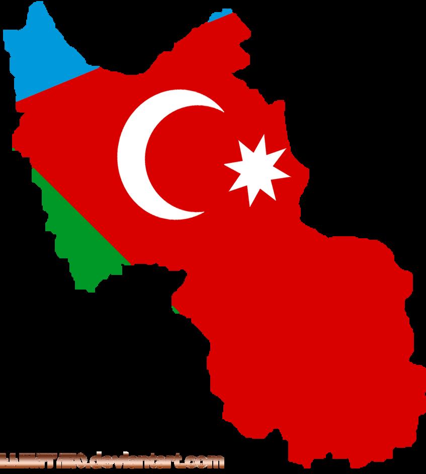 Flagmap of South Azerbaijan by llmatako on DeviantArt