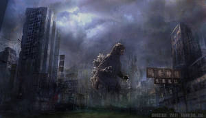 Godzilla Destroyed City